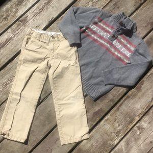 Gymboree Sweater and Khakis